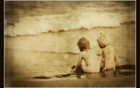 Fotografii copii la mare
